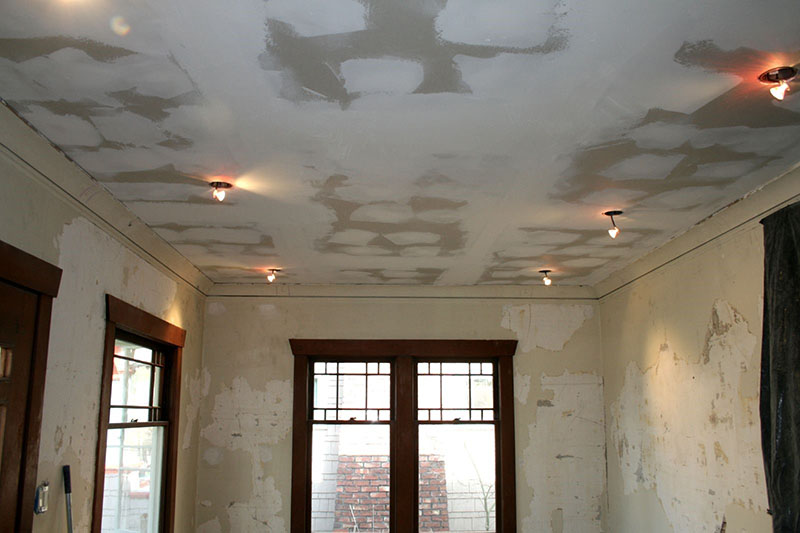 how to do a ceiling tear down and replacement 2
