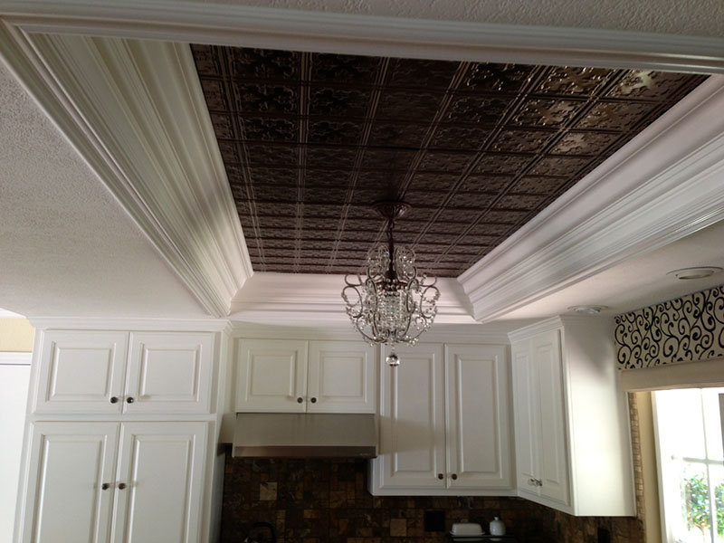 how to do a ceiling tear down and replacement cover